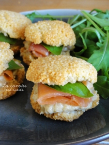 macarons tapioca saumon et avocat