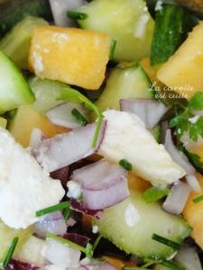 salade concombre melon feta ou chevre